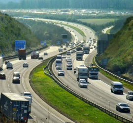 A busy motorway with cars