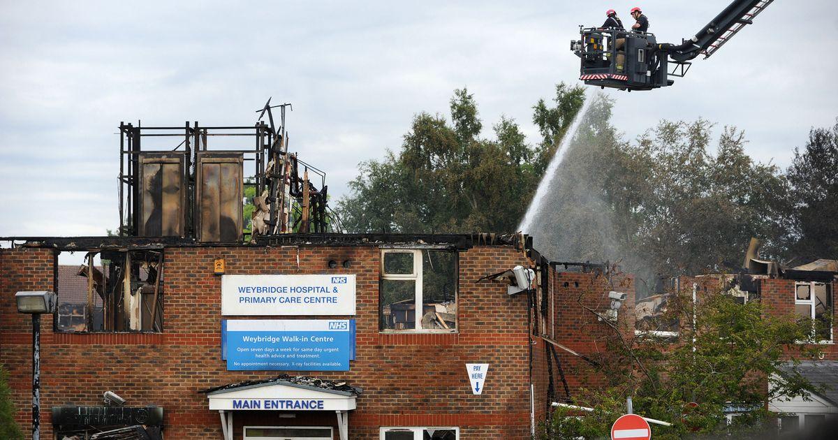 The damage to the Weybridge Community Hospital roof