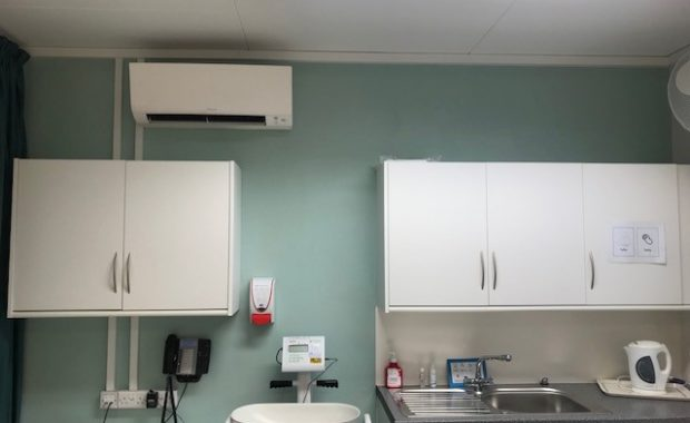 Ore Clinic air conditioning unit