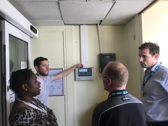 Sittingbourne Memorial Hospital fire alarm system