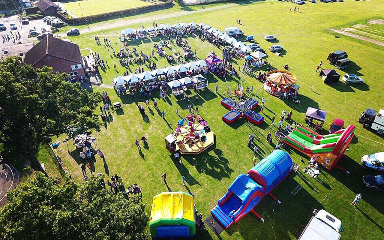 The Gatwick International Food Festival from above